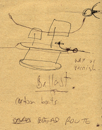 Rus's drawing of boat with ballast