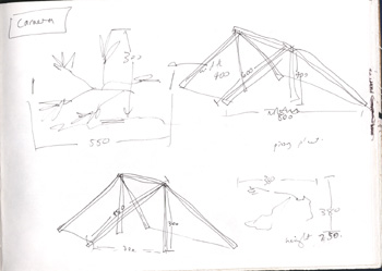 drawings for measurements of Brunswick tents